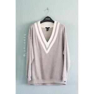 H&M | Varsity V-Neck Dressy Casual Sweatshirt